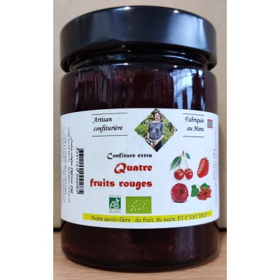 Confiture Artisanale 4 fruits Rouge BIO