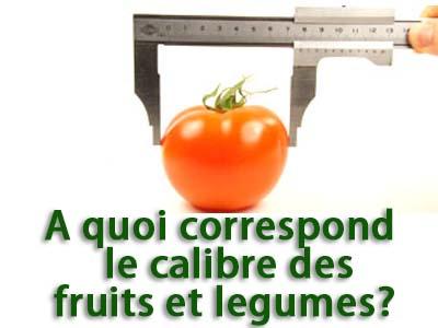 calibre des fruits et legumes